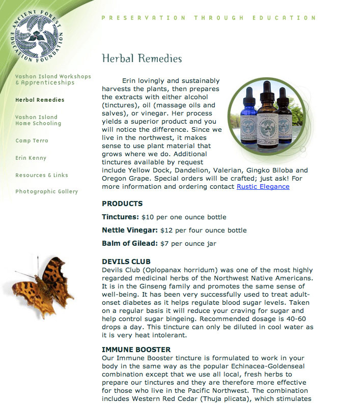 Ancient Forest Education Foundation - Herbal Remedy