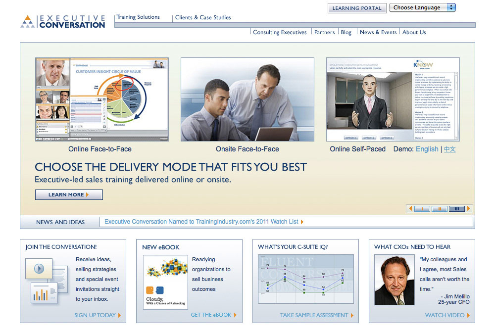 Executive Conversation Website
