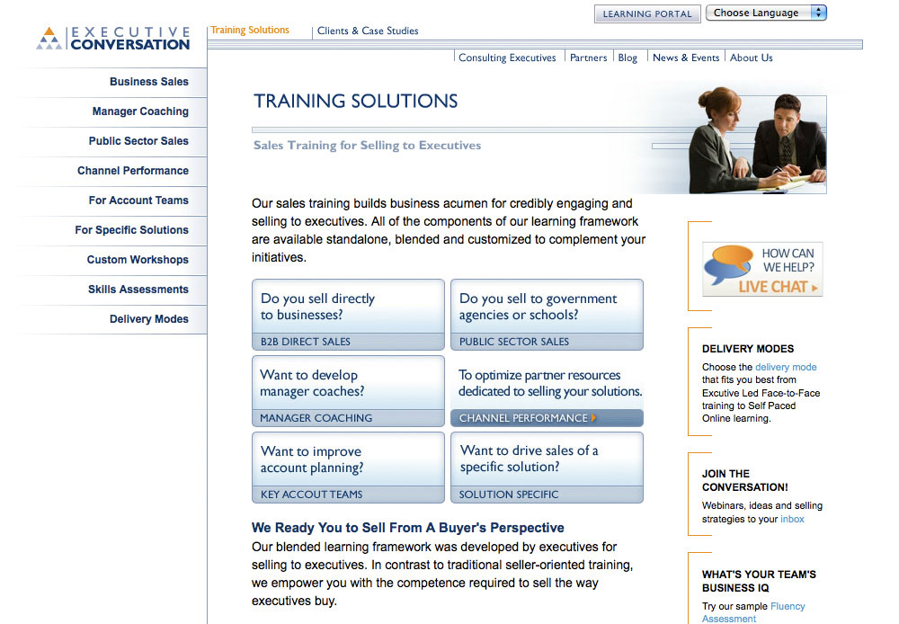 Executive Conversation - Training Solutions